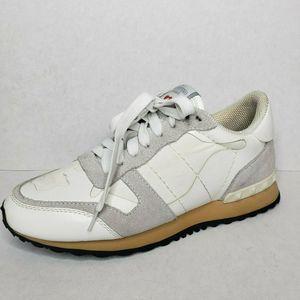 Valentino Garavani L'AMOUR Leather Studded Sneaker